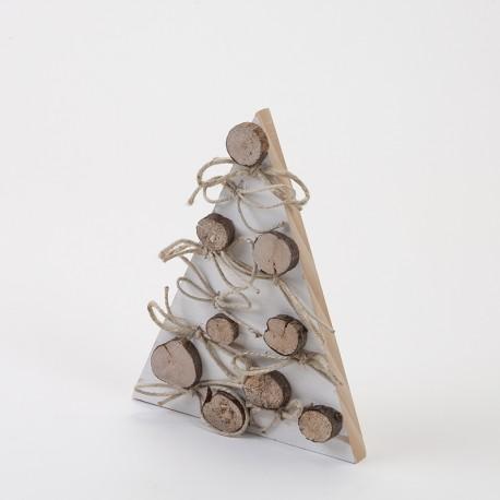 Sapin blanc et rondins 35 cm en bois