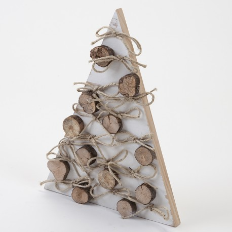 Sapin blanc et rondins 43 cm en bois