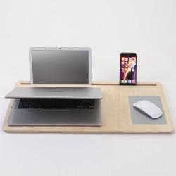 Plateau support en bois pour ordinateur portable