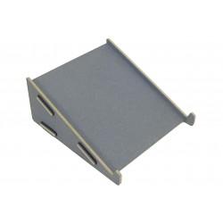 Support pour ordinateur portable gris foncé